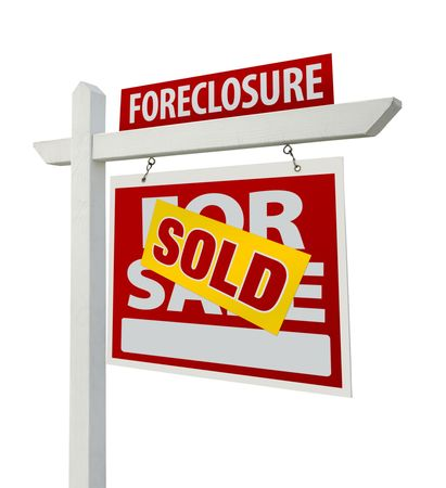 Sold Foreclosure Home For Sale Real Estate Sign  photo