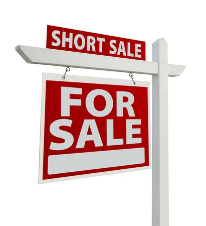 Short Sale Home For Sale Real Estate Sign photo