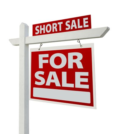 repossession: Short Sale Home For Sale Real Estate Sign