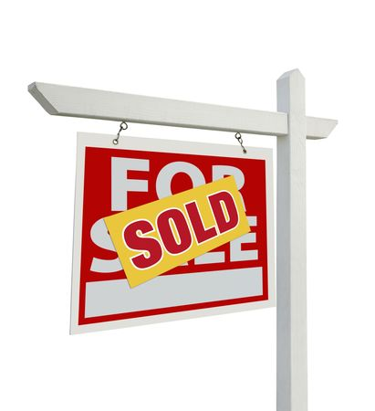 Sold For Sale Real Estate Sign Stock Photo - 6738123