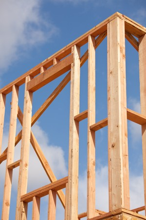Abstract of New Home Construction Site Framing. Stock Photo - 7057553