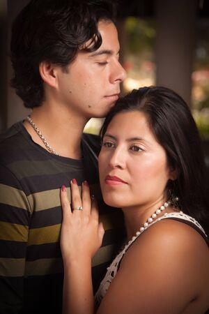 Attractive Hispanic Couple Portrait Enjoying Each Other Outdoors. Stock Photo - 7172131