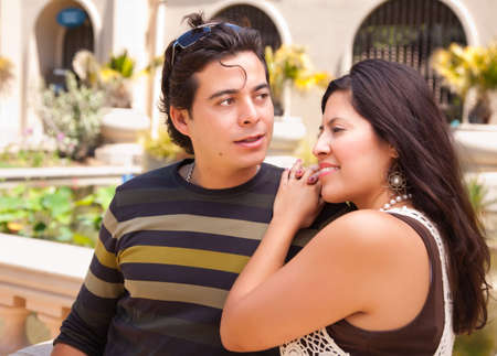 Attractive Hispanic Couple Enjoying Themselves At The Park. Stock Photo - 7172136