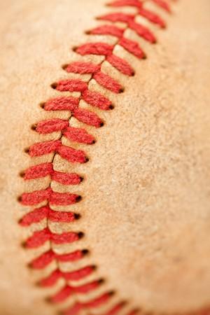 nicked: Macro Abstract detalles de agotada de cuero de b�isbol.