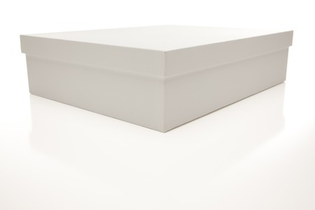 White Box with Lid Isolated on a White Background. Stock Photo - 7341992