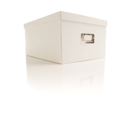 White File Box Isolated on a White Background. Stock Photo - 7341966