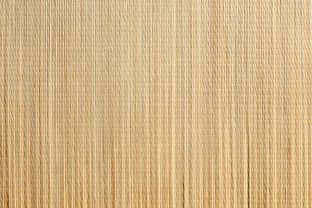 jalousie: Uniform Tan Bamboo Mat Background Overhead Image. Stock Photo