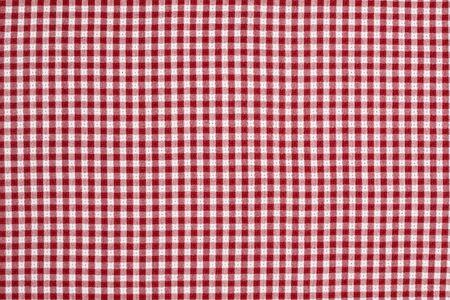 Rood en wit geruit picknick deken tafellaken Detail Stockfoto