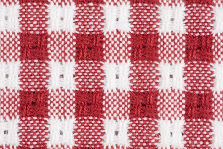 Red and White Checkered Picnic Blanket Tablecloth Detail Stock Photo - 7652484