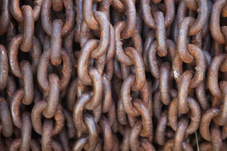 fetishes: Abstract of Thick Rusty Chain Background Image.