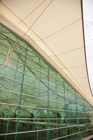 San Diego Convention Center Building Architectural Abstract. Imagens