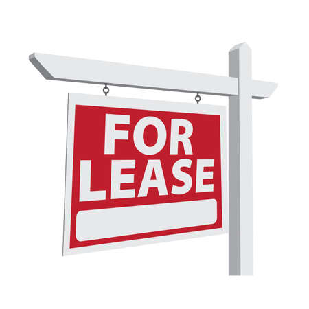for rent: For Lease Real Estate Sign Ready For Your Own Message.