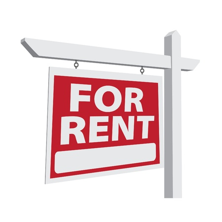 rent: For Rent Real Estate Sign Ready For Your Own Message.