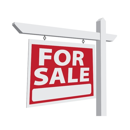 room for text: For Sale Real Estate Sign Ready For Your Own Message.