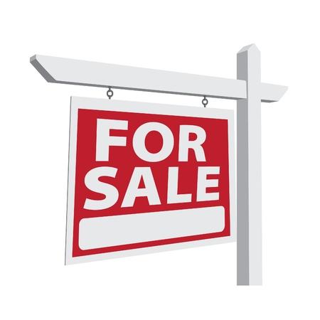 Para la venta de bienes raíces signo listos para su propio mensaje.