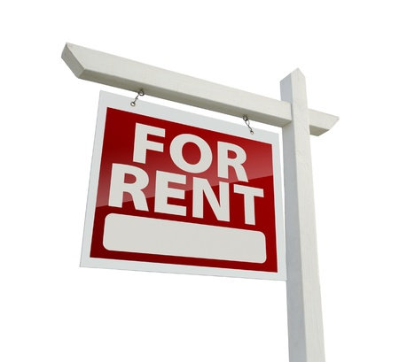 Left Facing For Rent Real Estate Sign Standard-Bild