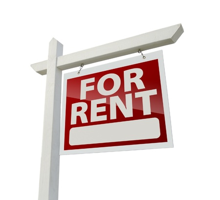Right Facing For Rent Real Estate Sign
