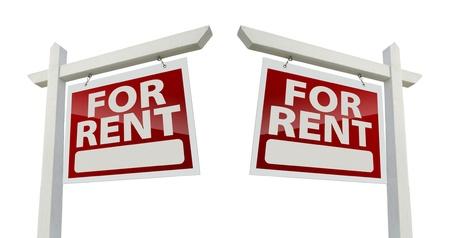 Left and Right Facing For Rent Real Estate Signs Reklamní fotografie