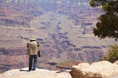 Photographer Shooting the Beautiful Landscape of the Grand Canyon. photo