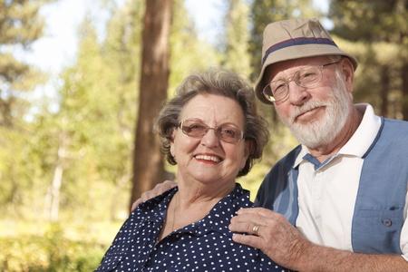 Loving Senior Couple Enjoying the Outdoors Together.