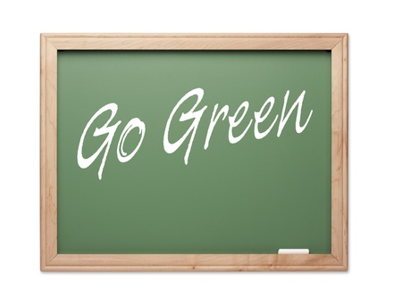 Go Green Green Chalk Board Series on a White Background. Stock Photo - 10594890
