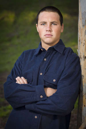 blue eyed: Handsome Young Blue Eyed Boy Portrait Outside