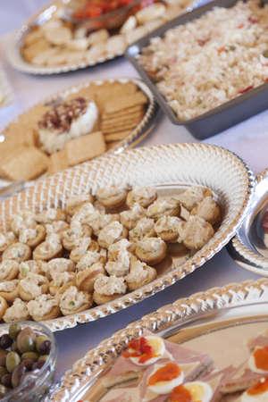 epicurean: Various Italian Appetizers on Serving Table.