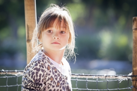 Pretty Young Child Girl Portrait Outside. Stock Photo - 19126419