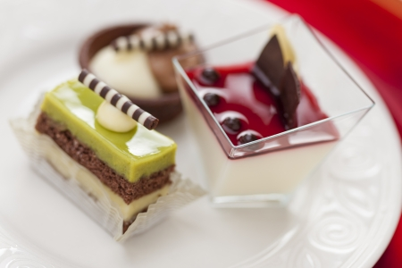 tantalizing: Beautiful Tantalizing Italian Pastries on a Plate.