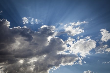 lining: Beautiful Dramatic Storm Clouds with Silver Lining and Light Rays with Room For Your Own Text or Graphics.