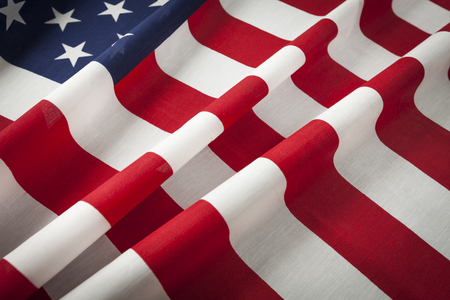 Folded American Flag Abstract.