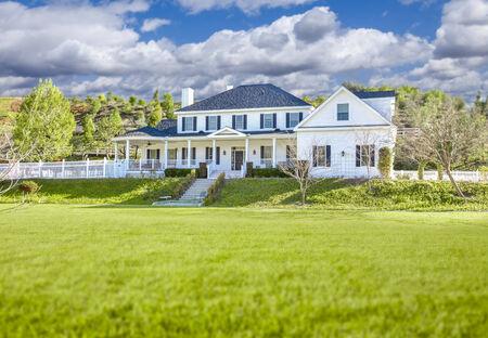 realty residence: Beautiful Custom Built Home Facade and Yard.