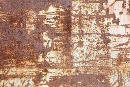 oxidado: Resumen de fondo superficie oxidada del metal de la vendimia.
