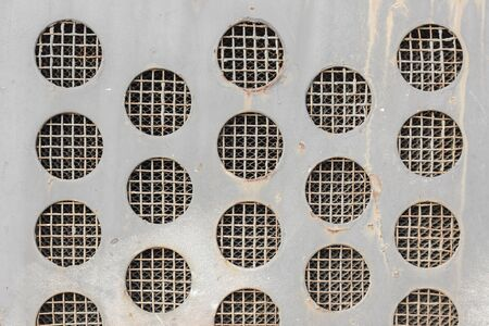 metal grid: Abstract Vintage Metal Grid Circles Background.