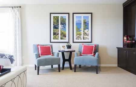 areas: Beautiful New Home Bedroom Sitting Area .