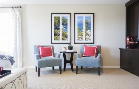 superficie: Nuevo hogar hermoso dormitorio sala de estar.