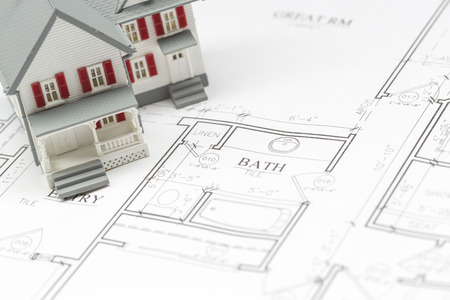 do it yourself: Model House Resting on Custom House Plans.