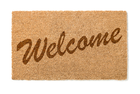 welcome mat: Welcome Mat Isolated On A White Background.