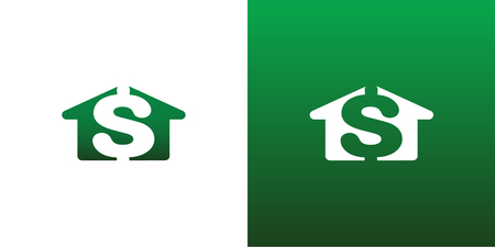 residential home: Real Estate House Cost Money Vector Symbol