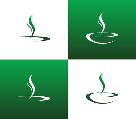 Set of Abstract Soup or Liquid Illustration Vector Sign Symbol