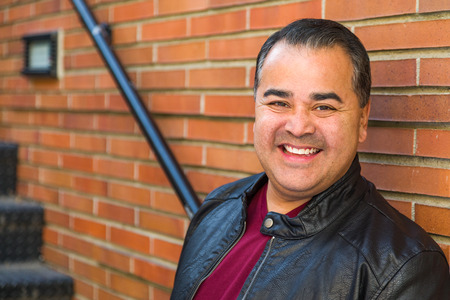 Headshot Portrait of Handsom Hispanic Man. Stock fotó