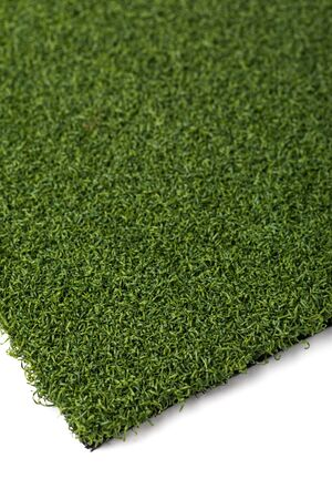 Section of Artificial Turf Grass On White Background.