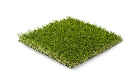Section of Artificial Turf Grass Isolated On White Background.