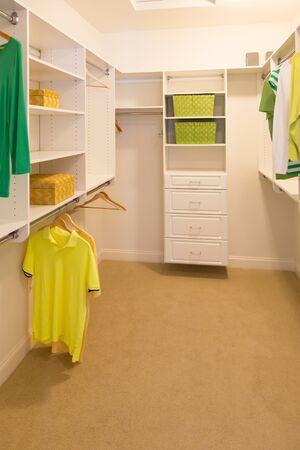 Spacious Walk-in Closet In Home.