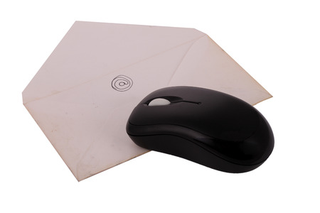 computer peripheral: The Letter on The White Background Mouse Technology