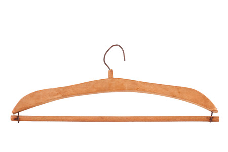 old times: This is a wooden coat hanger than old times. Very beautiful design. This object isolated on white background.