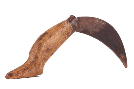 penknife: This is a penknife on the white background. This is from Anatolia and very old object.