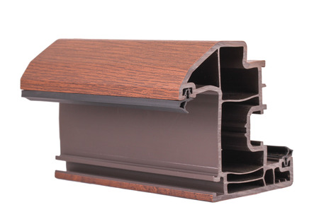 double glazing: This object woodlike building material. Used especially for home windows. Stock Photo