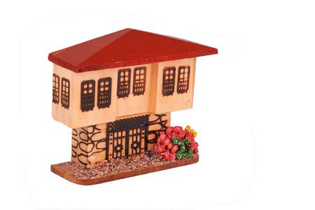 dollhouse: This is for play times and retro feel object. Stock Photo