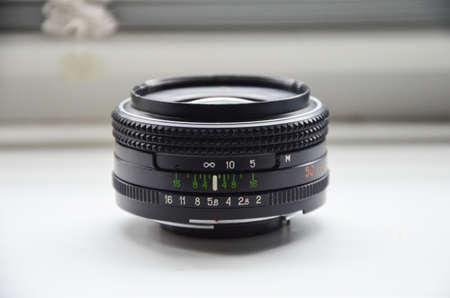 Black 50mm lens for dslr mirror camera